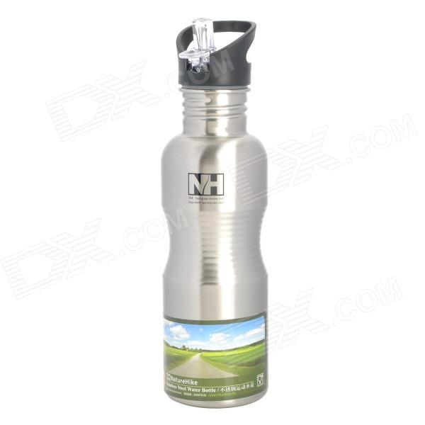 NatureHike-NH USA Style Large Mouth Opening Stainless Steel Water Bottle Kettle - Silver (700mL)
