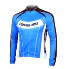 LAMBDA L060 Cycling Bicycle Bike Riding Long Sleeves Suit Jersey - Blue + Black (Size L)