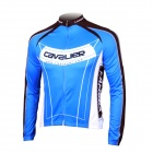 LAMBDA L060 Cycling Bicycle Bike Riding Long Sleeves Suit Jersey - Blue + Black (Size XL)