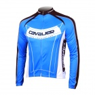 LAMBDA L060 Cycling Bicycle Bike Riding Long Sleeves Suit Jersey - Blue + Black (Size XXL)