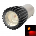 1157 200lm 1-3W SMD LED Rojo Brake Light Car Light - Negro + Plata (12V)