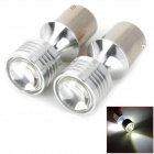 1156 10W 320lm White Car Brake Lights w/ 4-CREE XBD (2 PCS)