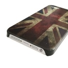Retro British Flag Pattern Protective Plastic Back Case for Iphone 5 - Blue + Red