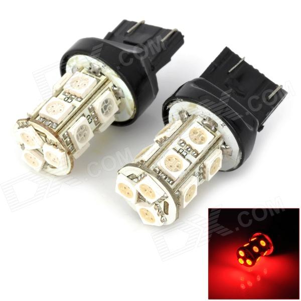 T20 2W 130lm 13-SMD 5050 LED Red Light Car Styrning / Broms / Tail / Backup Lampor (2 st)
