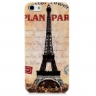 The Eiffel Tower Pattern Protective Plastic Back Case for Iphone 5 - Black + Beige