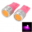 LY258 T10 1W 90lm LED Pink Light Car Width Lamps (2 PCS)