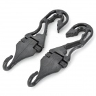 Practical Adjustable ABS Car Hanging Hooks - Black (2 PCS)