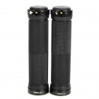 GAOLUTE Anti-Slip Aluminum Alloy + Rubber Radfahren Grips Bicycle Bar End Lenker - Schwarz (Paar)