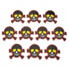 JR002 Unique Skull Pattern DIY Stickers Set - Black + Yellow + Red + Golden (10 PCS)