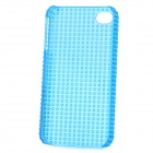 Fashionable Design Protective Plastic Back Case for Iphone 4 / 4S - Translucent Blue
