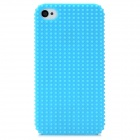Fashionable Design Protective Plastic Back Case for Iphone 4 / 4S - Sky Blue