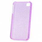 Fashionable Design Protective Plastic Back Case for Iphone 4 / 4S - Translucent Purple