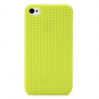 Fashionable Design Protective Plastic Back Case for Iphone 4 / 4S - Light Green