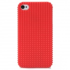 Fashionable Design Protective Plastic Back Case for iPhone 4 / 4S - Deep Red