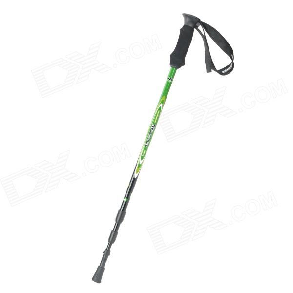 NatureHike Retractable Carton + Tungsten Steel Trekking Stick Walking Hiking Pole - Black + Green