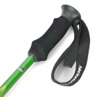 NatureHike Retractable Carbon + Tungsten Steel Trekking Stick Walking Hiking Pole - Black + Green