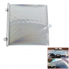 Automatic Telescopic Shutter Roller Car Window Curtain Sunshade - Silver + White (58 x 125cm)