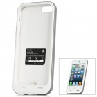 Rechargeable 2200mAh External Battery w/ Micro USB Charging Cable for iPhone 5 - White + Grey