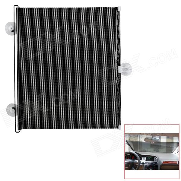 Automatic Telescopic Shutter Roller Car Window Curtain Sunshade - Black + White (50 x 125cm)