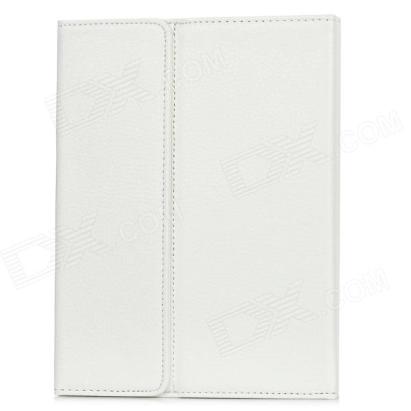 Bluetooth v3.0 Portable impermeable PU + del teclado del silicón 78-Key para Ipad MINI - Blanco
