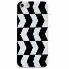 Grid Pattern Protective Plastic Back Case for Iphone 5 - Black White