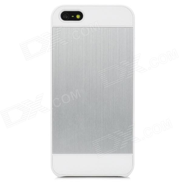 Protective Matte Aluminum Alloy Back Case for Iphone 5 - White
