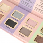 Portable 8-Color Cosmetic Makeup Eyeshadow Palette + Eyeshadow Primer Set - Multicolored