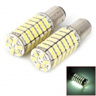 1157 9W 500lm 120-SMD 3528 LED White Car Steering / Brake / Tail / Backup Lights (2 PCS)