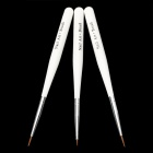 Fashion Makeup Art Design Polish Painting Nail Brush Pen Set - White (3 PCS)