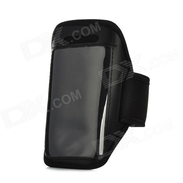 Moda Sports Gym Caso Arm Band para Ipod Touch 5 - Preto
