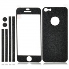 Protective Soft Silicone Front + Back + Side Screen Film for Iphone 5 - Black