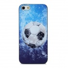 Football Pattern Protective Plastic Back Case for Iphone 5 - Blue