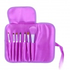 Portable 7-in-1 Professional Cosmetic Makeup Brushes Kits - Purple + White
