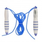 Exercise Skipping Jumping Rope w/ Electronic Counter - White + Blue