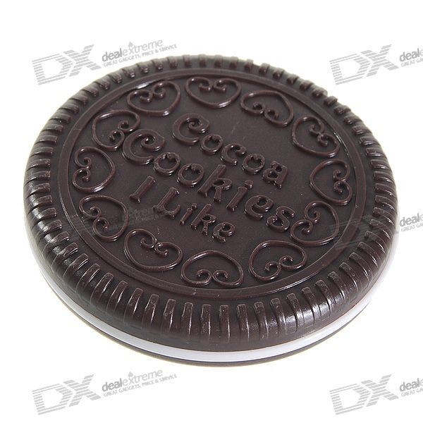 Chocolate Cookie Makeup Mirrors with Brush (2-Pack)