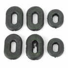 Motorcycle Side Cover Grommets Set for Honda CG125 - Black (3 Pairs)