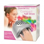 Portable Professional Electronic Nail Dryer - Silver (2 x AA)
