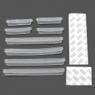 CY001 Decorative Car Door Anti-Collision Tapes - Translucent White (2 x 4 PCS)