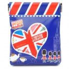 UK National Flag Pattern Portable PU Leather Coin Purse for Women - Blue