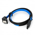 VSO High Speed SATA 3.0 Data Cable - Blue + Black (50cm)