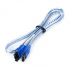 Aluminum Foil Shielding SATA II Data Cable - Transparent Blue (45cm)