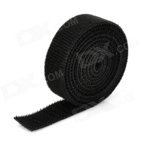 CC-915 DIY Velcro Computer Wire Cord Cable Taps Holders Winder Wrap - Black (120cm)