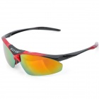 KUISHE K1105-1 Sports Cycling Resin Lens UV400 Protection Polarized Sunglasses - Black + Red