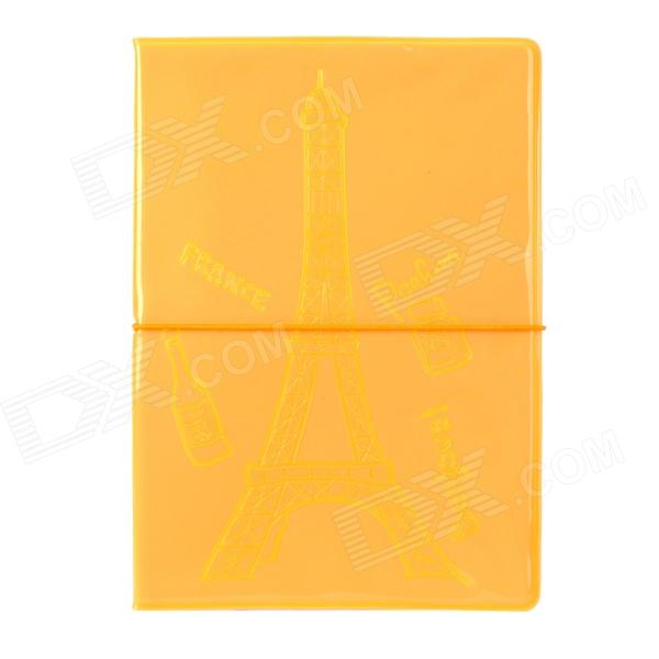 Glow-in-the-Dark Eiffel Tower Style Passport Holder - Fluorescent Orange