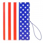 Stylish Flag of United States Pattern PVC Soft Rubber Passport Case - Red + White + Blue