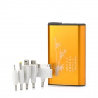 HCHC S-312 Rechargeable 8400mAh Power Bank w/ LED Light for iPad / iPhone / Samsung - Golden + Black