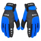 Nuckily N2028 Windproof Rainproof Warm Full-Finger Gloves - Blue + Black (Pair)