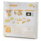 Microwave Potato Chips Maker with Slicer Complete Set - White (L)