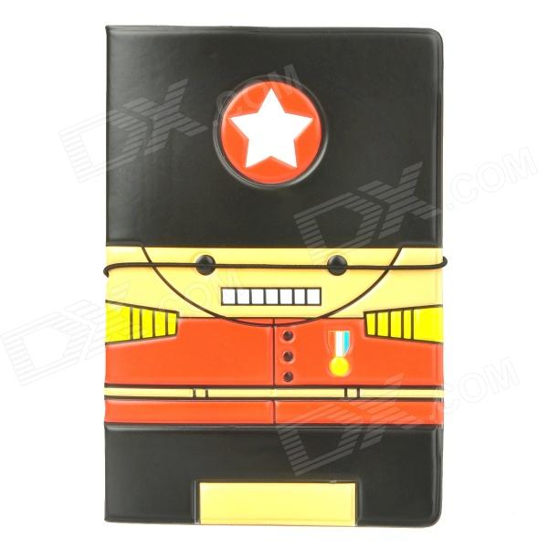 Cute Cartoon Style Passport Holder - Black + Red + Yellow