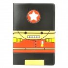 Cute Cartoon Stil Passport Holder - Schwarz + Rot + Gelb